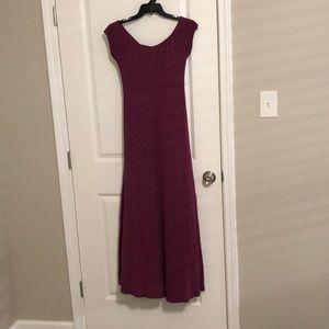 Purple Maternity Cross back Maxi Dress